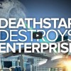 This would be an awesome way to end the world, Death Star owns the Enterprise