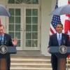 President Obama orders Marine to hold umbrella over his head during press conference