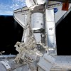 Space Shuttle Discovery Unloads Space Cargo