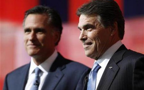 Perry and Romney duel on stage at Republican Debate, Watch whole debate