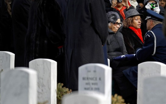 Tuskegee fighter finally given burial at Arlington as Lucas film 'Red Tails' is released about black pilots