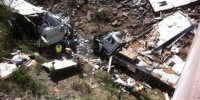 Five dead as motor home equipped truck with 13 inside runs off Kansas road