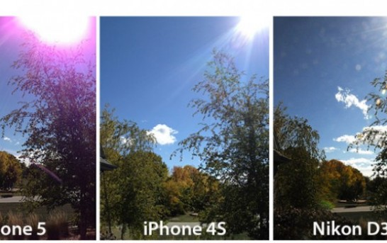 iPhone 5 users getting purple glare in pictures taken with camera