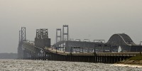 Truck leaking 9000 gallons of propane on Chesapeake Bay Bridge