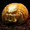Sculptor carves works of art out of pumpkins