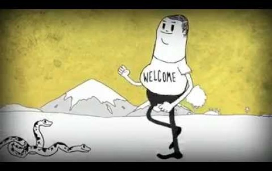 Cartoon about MAN polluting environment goes wild on internet