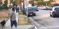 Police shoot poor dog trying to protect its owner who was being arrested