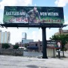 Armed Forces billboard vandalized in Louisville, KY