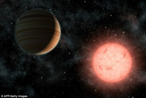 Artist's rendition of Vulcan orbiting around its parent star.
