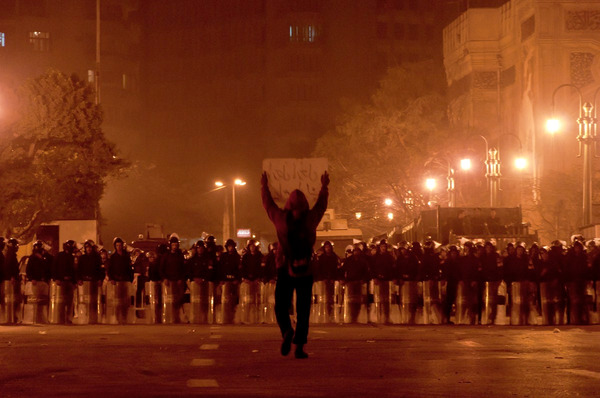 Violent protesters are a minority trying to hijack a peaceful revolution in Egypt.