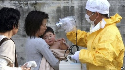 People living around the Fukushima Nuclear plant are being checked for radiation exposure.