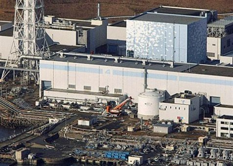 Damage can be seen at the Fukushima nuclear plant in Japan after a 8.9 magnitude earthquake