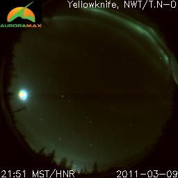 A view from Yellowknife Observatory at nighttime.