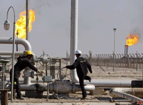 Exxon says production at the West Qurna Stage 1 oil field in Iraq should more than triple to 750,000 barrels a day in three years time. (AP Photo/Nabil al-Jourani)