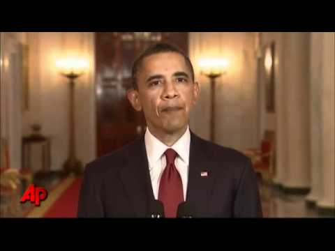 Video of President Obama telling nation Osama bin Laden is dead