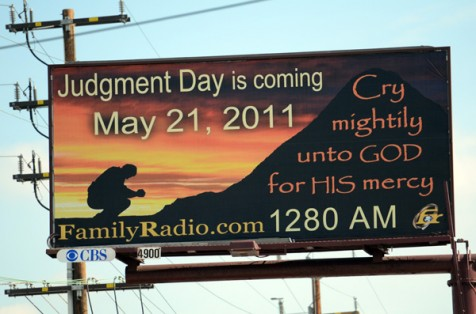 judgment day may 21 billboard. One of the many Judgement Day