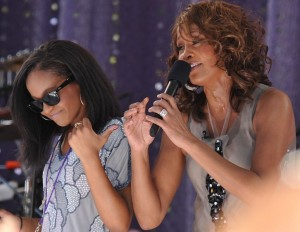 Houston performs with her daughter on Good Morning America in 2009.
