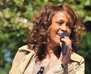 Whitney Houston performing at the GMA.