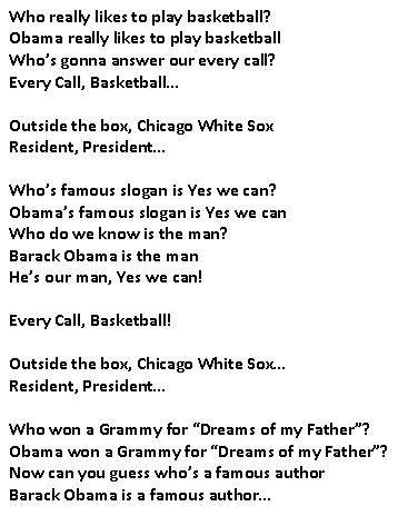 Poem about Barack Obama for Black History month.