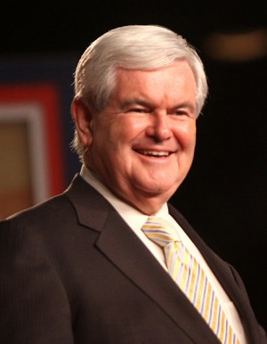 Newt Gingrich was out smelling the flowers.  Does this mean he isn't long for the earth?