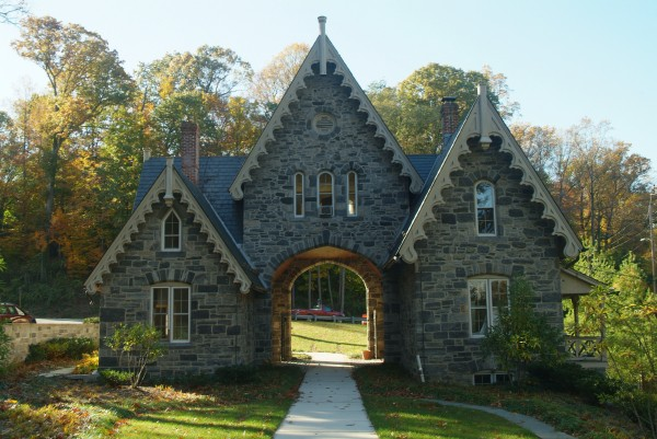 The historic Gatehouse at the entrance to the Sheppard Pratt Campus.