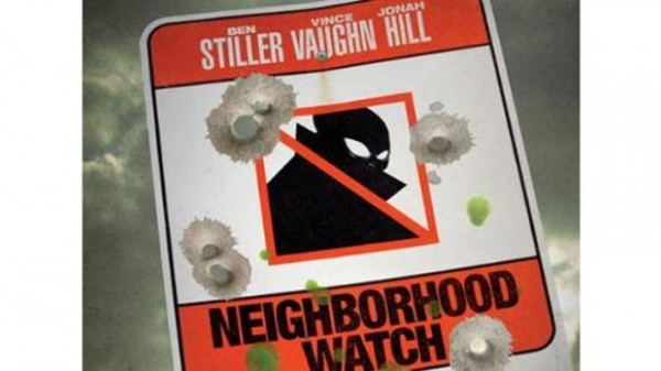 The poster for Neighborhood Watch featuring Ben Stiller.