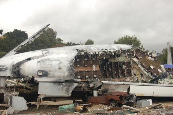 War of the Worlds plane crash set, not the actual plane that crashed - Photo by Rob Young
