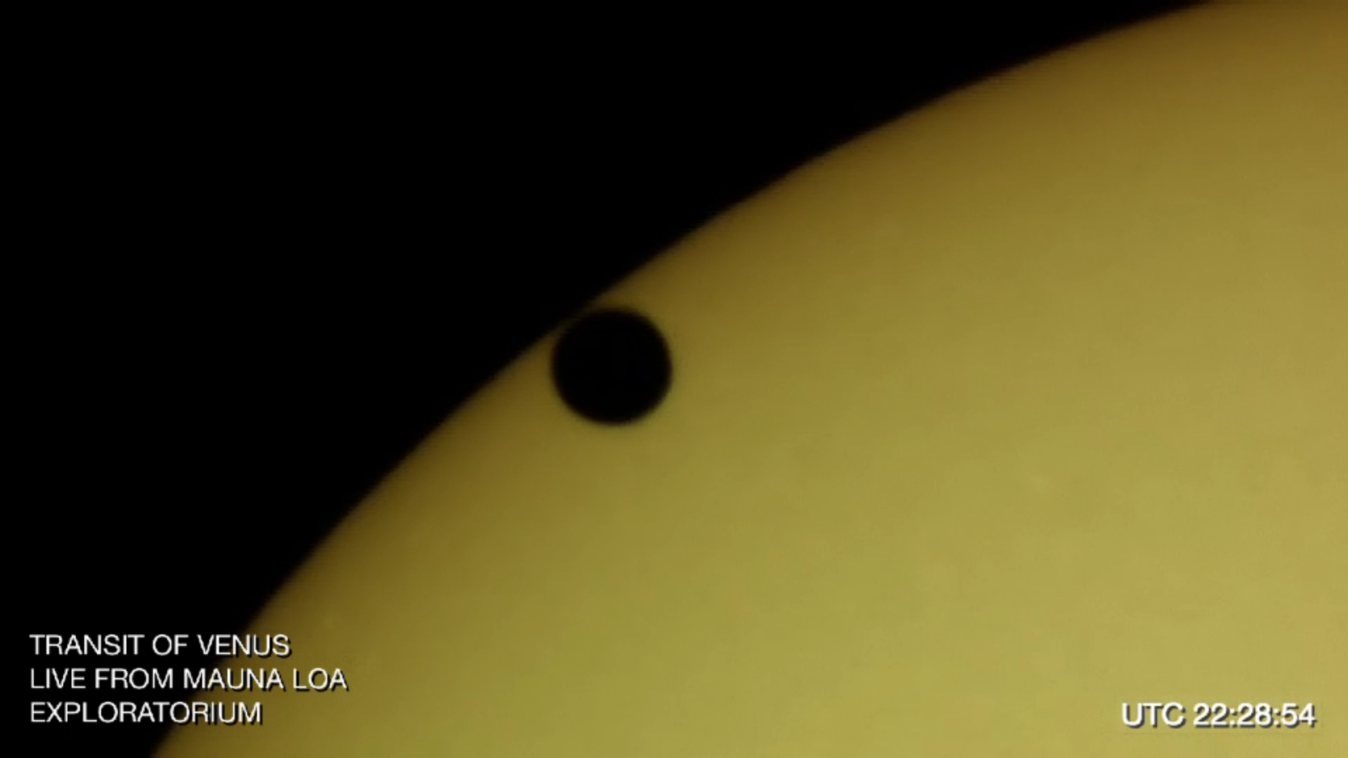 A visible light view of Venus and the Sun, the rarest of all the eclipses.