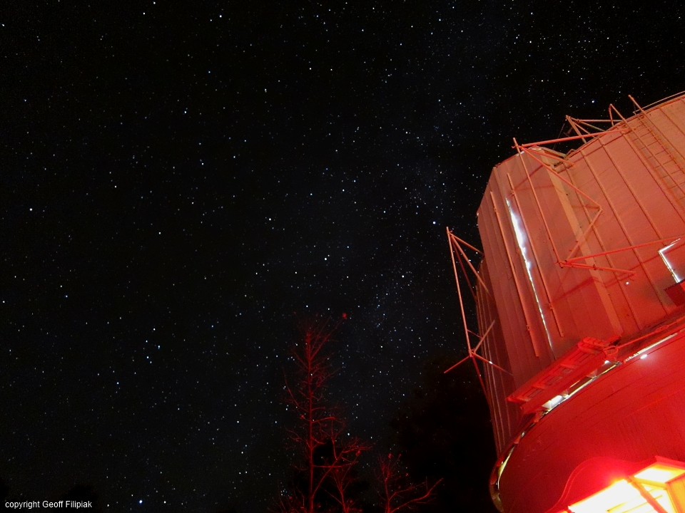 The Lowell Observatory telescope had to be shut down because of wind, but it was still a great experience.  Flagstaff Arizona has some of the darkest skies in the southwest because of the observatory there.
