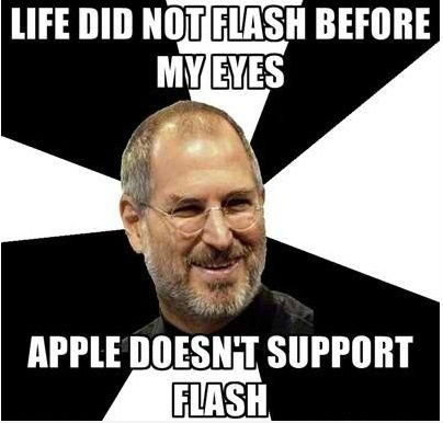 Steve Jobs doesn't support Flash