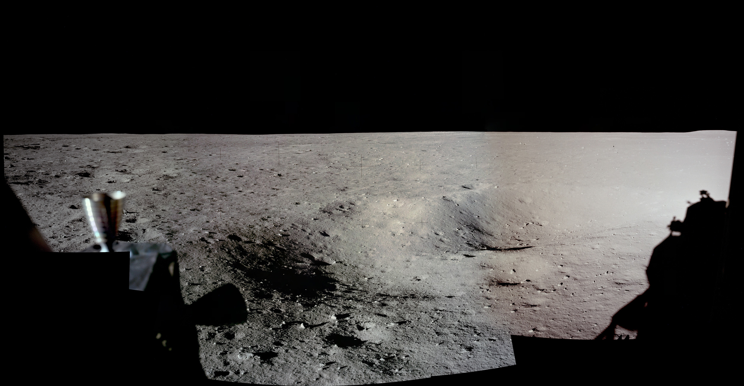 Neil Armstrong's first picture on the moon.  Click to enlarge.