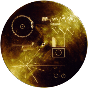 Gold plated records aboard both spacecraft contain directions on how to get to Earth if any intelligent life can figure out how to use them.