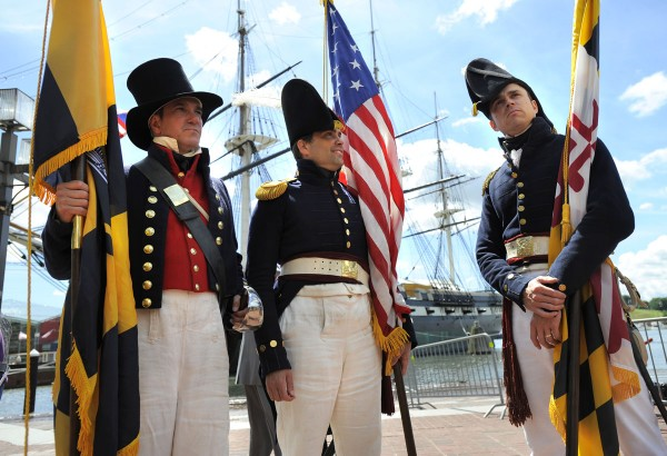 Fort McHenry's Ranger Vince can be seen at center in this photo taking during Sailabration.  Photo Credit Jose Fuentes Lloyd Fox [Sun Photographer] #795