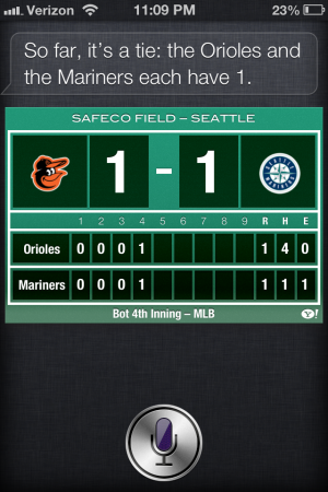 Siri does sports now.