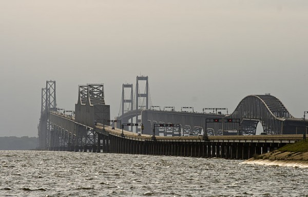 The Chesapeake Bay Bridge in Maryland.