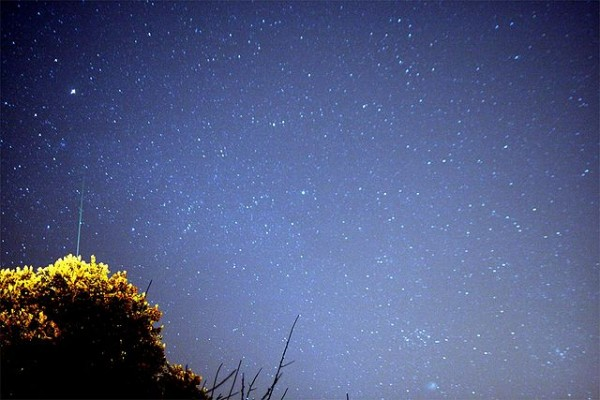 A picture of the Geminid meteor shower in San Francisco.