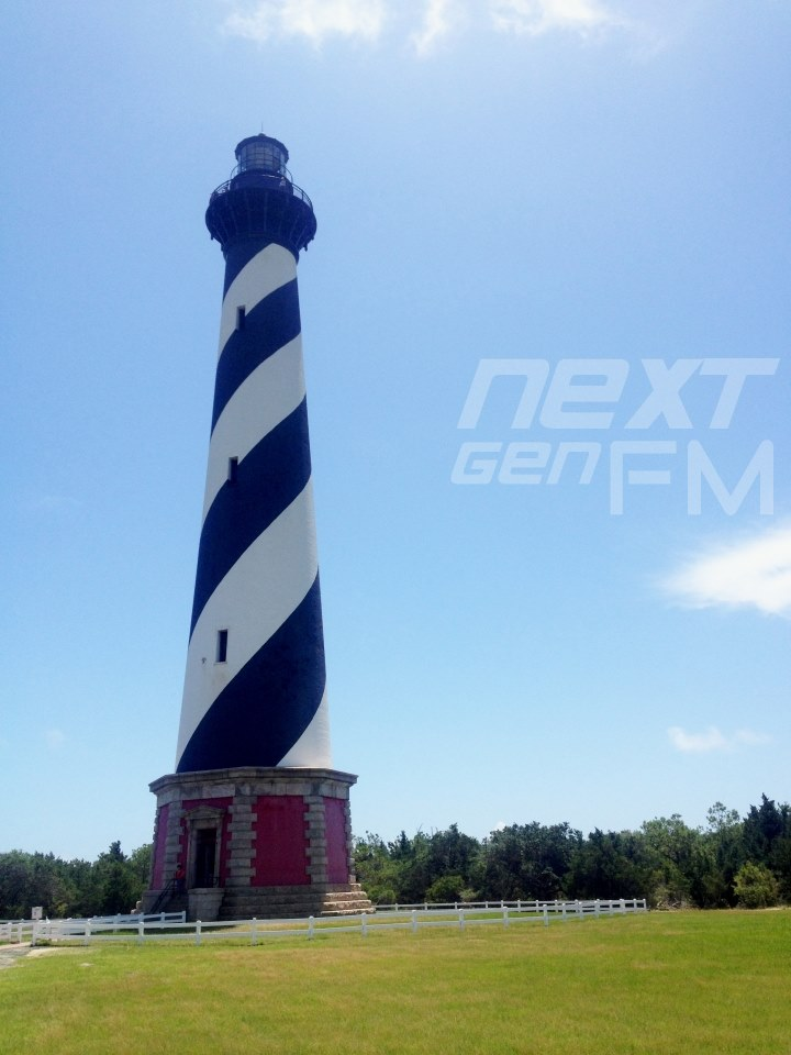 Cape Hatteras Lighthouse in its new location away from the beach to protect it from erosion