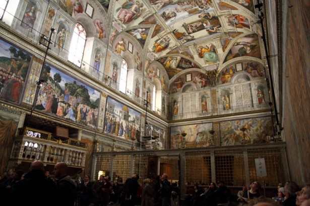 The Sistine Chapel where the Papal conclave has chose the new pope.