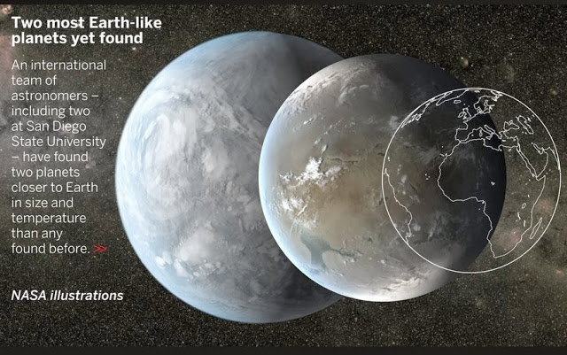 Official NASA illustration of the two new planets
