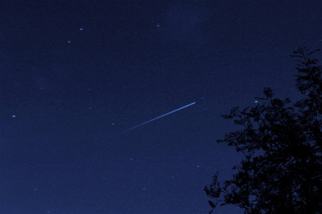 "A picture of a Perseid meteor by <a href=""http://astrosaintlouisneuweg.wordpress.com/2013/06/28/chasse-aux-perseides-a-fraize-88/"">Gerard Wymann</a>"