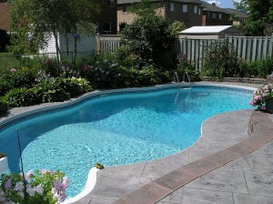 The usage of chlorine in pools helps keep the water safe to swim in.