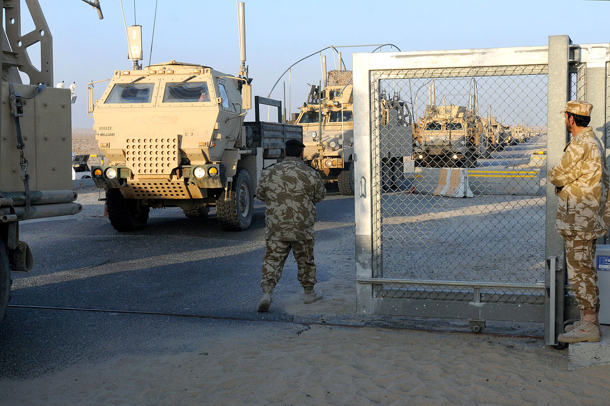 The last U.S. convoy leaves Iraq entering Kuwait.  The violence in Iraq is the worst since 2007.
